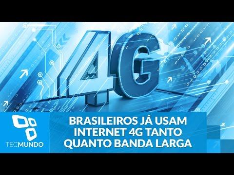 Brasileiros já usam internet 4G tanto quanto banda larga fixa