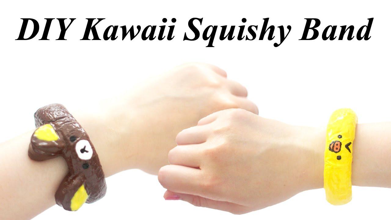 DIY Kawaii Squishy Band Bracelet Tutorial - How To - YouTube