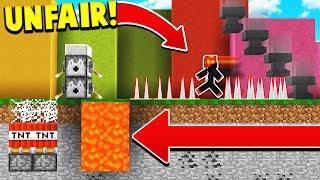 IF MINECRAFT WAS IMPOSSIBLE! (Unfair Minecraft)