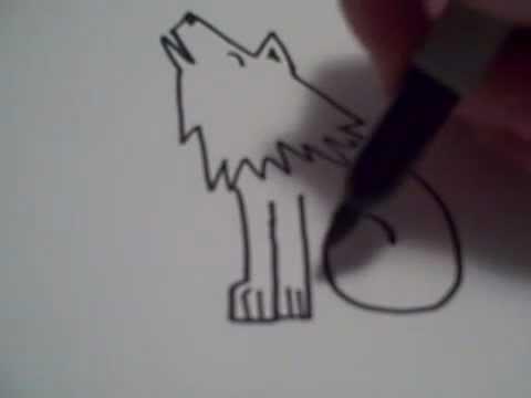 Видео как нарисовать волка для детей