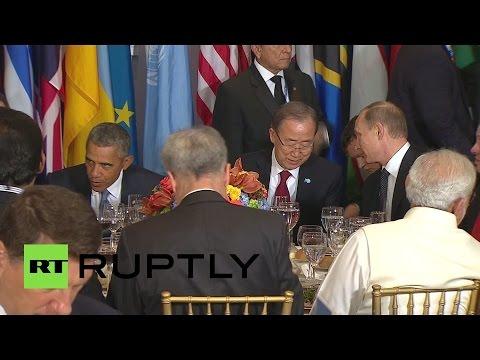 Владимир Путин принял участие в официальном завтраке лидеров ООН