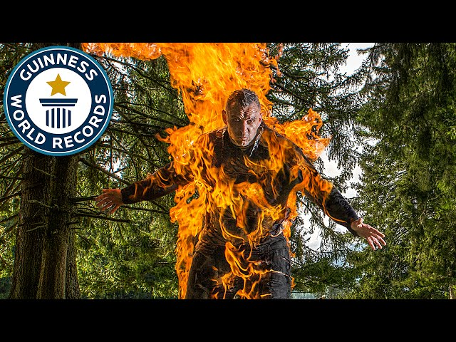 Human torch breaks three world records - Meet the Record Breakers