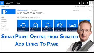 Add Links to a SharePoint Page