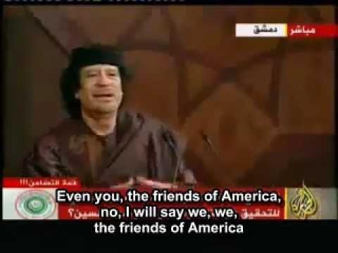 Gaddafi foretold end of Arab dictators (English subtitles)