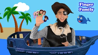 The Finger Family Song | Daddy Finger Pirate Song | Nursery Rhymes for Children