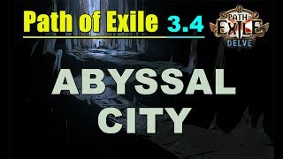 Path of Exile 3.4 DELVE: Abyssal City