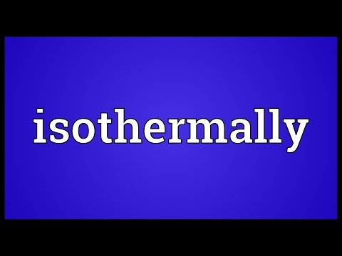 Header of isothermally