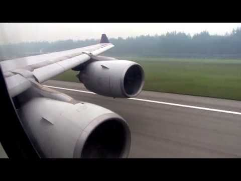 Singapore Airlines A340-500 [9V-SGE] Powerful Takeoff from Singapore