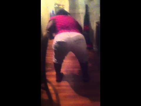 old woman shaking her butt twerking