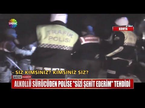 """Alkollü sürücüden Polise """"Sizi şehit ederim"""" tehdidi"""