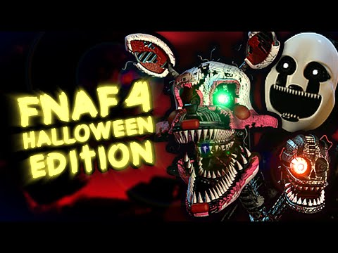 Five nights at freddy s 4 halloween edition gameplay all characters