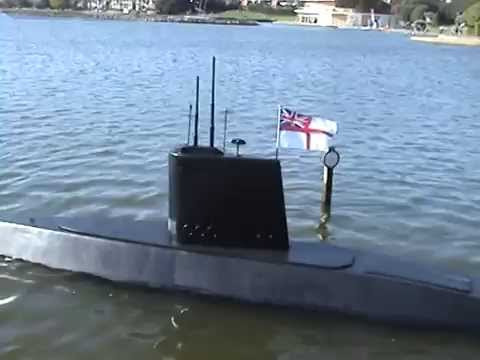 One Man Motorised - Man Made Submarine Video 2