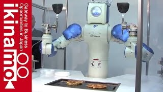 Robot that makes okonomiyaki fully automatically #Okonomiyaki Robot