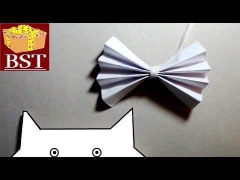 Как сделать бантик для кота 298