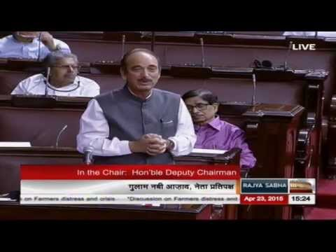 Sh. Ghulam Nabi Azad's comments on the discussion on agrarian crisis & farmers' suicides