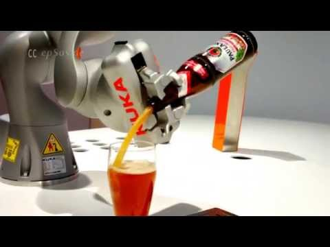 Robot serving Beer in Europe