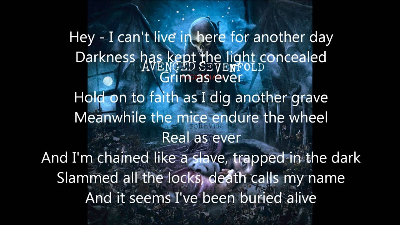 buried alive by avenged sevenfold lyrics requested youtube