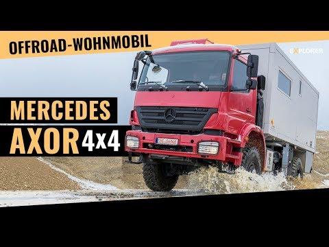 Mercedes AXOR Offroad-Wohnmobil von Füss Probefahrt