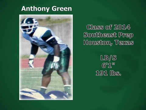 Anthony Green - Safety/LB - Class of 2014 - Southeast Prep Post Grad Academy - Houston, TX