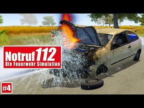NOTRUF 112 #4: Autounfall mit Person! I Gameplay PREVIEW Notruf 112 ...
