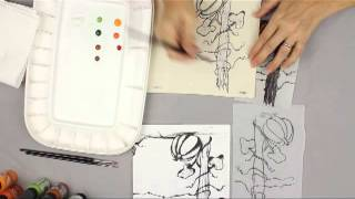 How to Paint with Pen & Ink Tutorial
