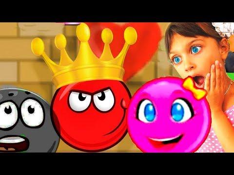 Красный шарик против черного короля в Новый Год спасает любимую. Мультик ИГРА Red Ball Roll