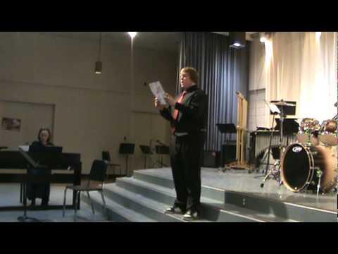 Travis Hunt Valdez High School spring recital 2010