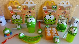 2014 Cut the Rope Hungry For Fruit Toys Complete Set in Happy Meal McDonald's Europe Unboxing