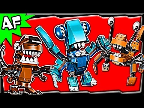 Lego Mixels MAX Series 2: Frosticons. Fang Gang & Flexers Stop Motion Set Review