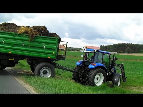 Wiosenne manewry z New Holland T4. 75 POWERSTAR, T5040