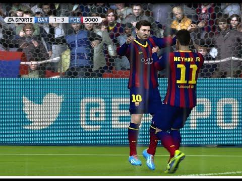 (PS4) Fifa 14 Online Gameplay Barcelona vs Bayern Munich HD