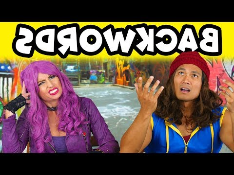 Backwards Word Challenge Mal vs Jay. Totally TV