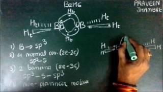 Structure of B2H6- Diborane (banana bond)