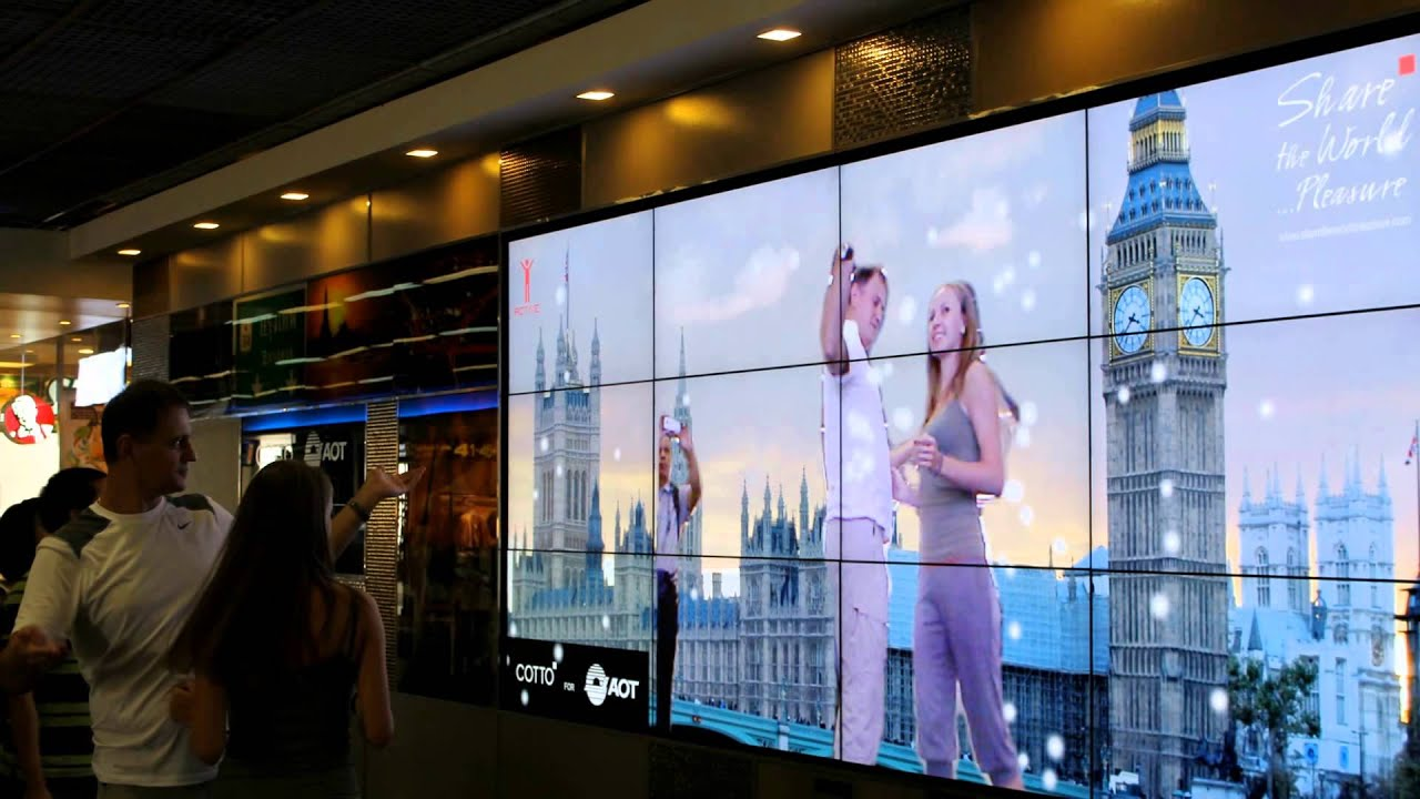 Exhibition Booth : Kinect interactive wall cotto share the world pleasure