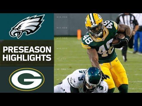 Eagles Vs Packers Nfl Preseason Week 1 Game Highlights