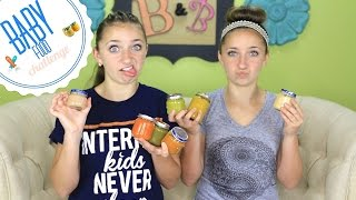 Baby Food Challenge | Brooklyn and Bailey