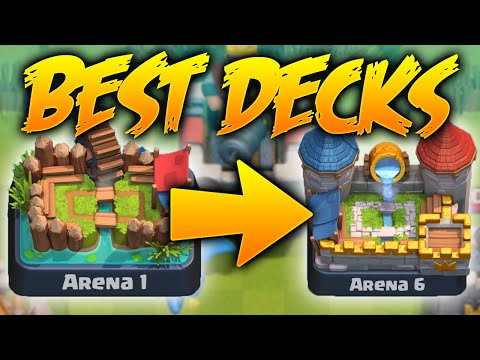Clash Royale - *BEST* Decks to Earn MORE Trophies! Amazing Decks 1700+ Trophies! (CR Arena 1-6 EASY)