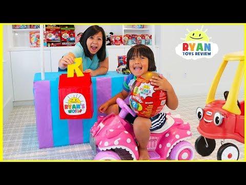Ryan's Drive Thru Pretend Play Adventure with Kids Power Wheels Ride on Car!!!