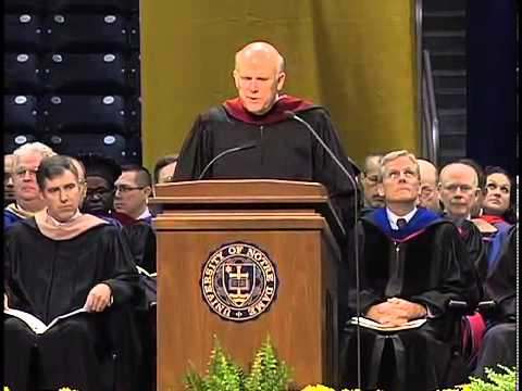 2013 Notre Dame Graduate Ceremony - Dan Akerson, Chairman and CEO, General Motors Company