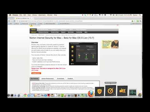 First Look At Norton Internet Security 5 Beta For Mac OS X Lion