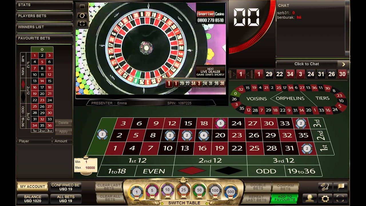 casino live online play roulette now