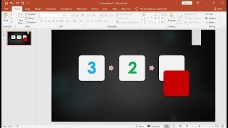 PowerPoint training |How to Create a Slide Show Animation Countdown SmartArt in PowerPoint