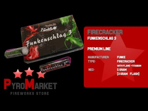Funke Funkenschlag 3 / Titan Böller mit Bengal / Firecracker with flame / CE F3 / @ PYROMARKET PL