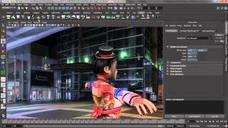 Maya 2014 3D Rendering and imaging - Maya nhair