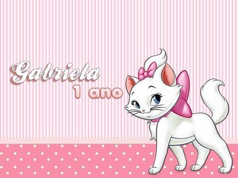 Retrospectiva Tema Gatinha Marie |  Gabriela 1 ano