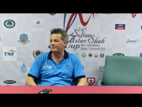 India 2 Korea 2 Mens hockey. Paul Van Ass  post match press conference from the Azlan Shah Cup 2015