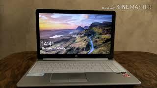 AMD Ryzen 3 HP laptop unboxing