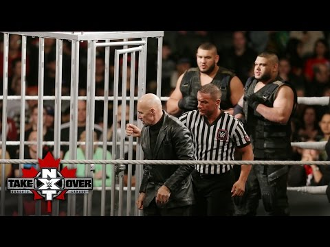 Paul Ellering is lifted up in the ominous Crash Cage: NXT TakeOver: Toronto: November 19, 2016
