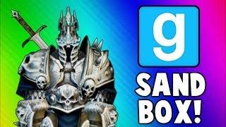 Gmod Portal & Flashlight Brawl! (Garry's Mod Sandbox Funny Moments)