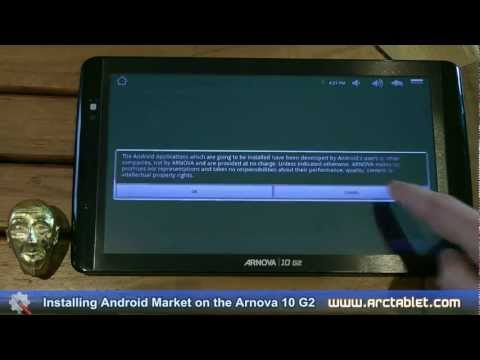 Installing Android Market on the Arnova 10 G2 in less than 10 mins with a custom firmware